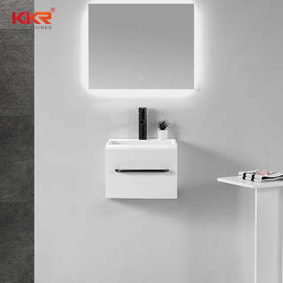 Lavabo freestanding in superficie solida per bagno sospeso