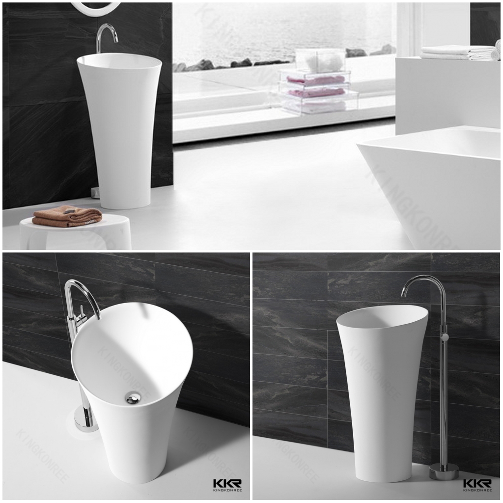 Lavabo freestanding in Solid Surface KKR-1394
